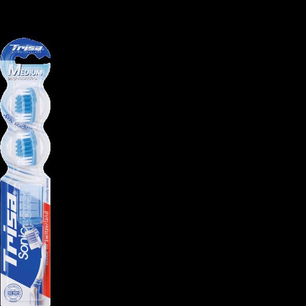 Trisa Sonic Power Ersatzset Schallzahnbürste medium Duopack