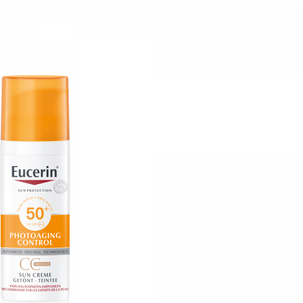 EUCERIN Sun CC getönt Gesicht Medium LSF50+