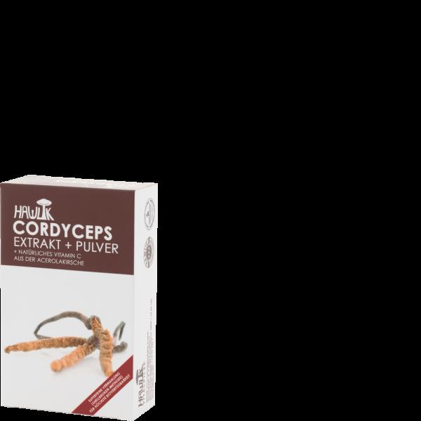 HAWLIK Cordyceps Extrakt + Pulver Kapseln