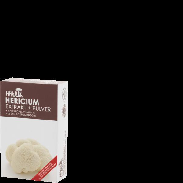 HAWLIK Hericium Extrakt + Pulver Kapseln