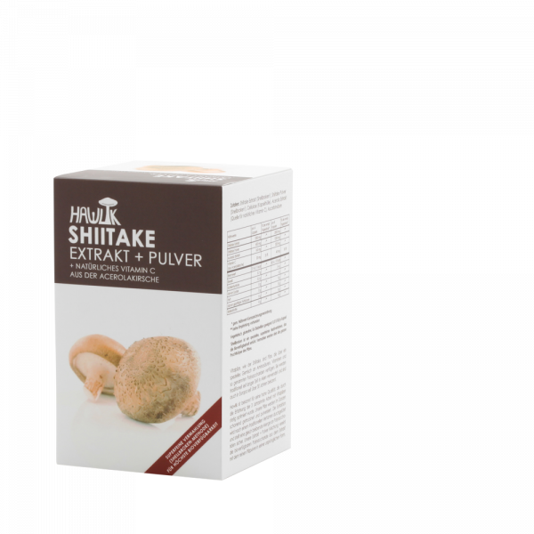 HAWLIK Shiitake Extrakt + Pulver